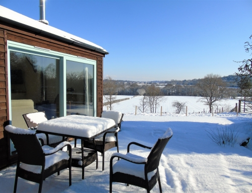 Terrace view in snow Flying Horse Cottage