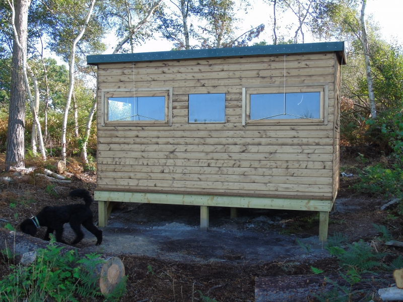 Close up of front of Bird Hide